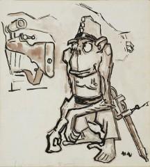 04_-Mario Sironi-La scimmietta del Montello-15 ottobre  1918-cm26x23