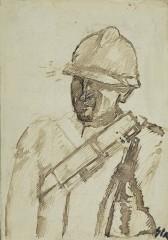 06_-Mario Sironi-Soldato con elmo-1938ca-tempera e matita su carta-cm28,6x22,8