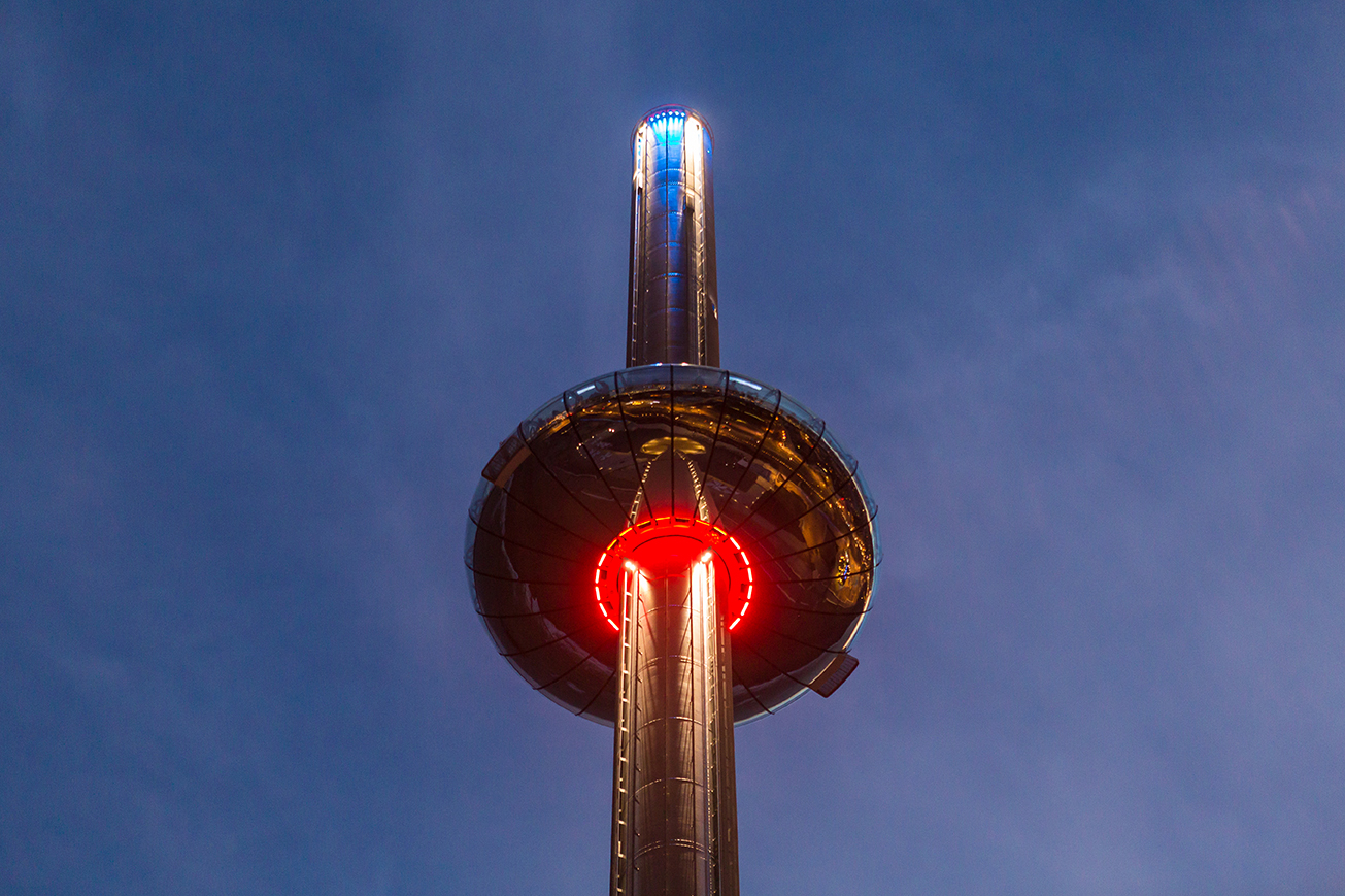 'Breathing' lighting on British Airways i360