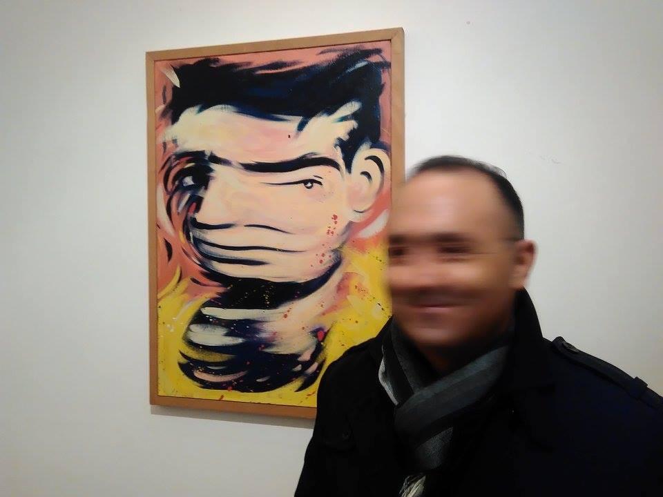 """Alfonso Siracusa, """"Studio per autoritratto"""", olio su tela, 1987"""