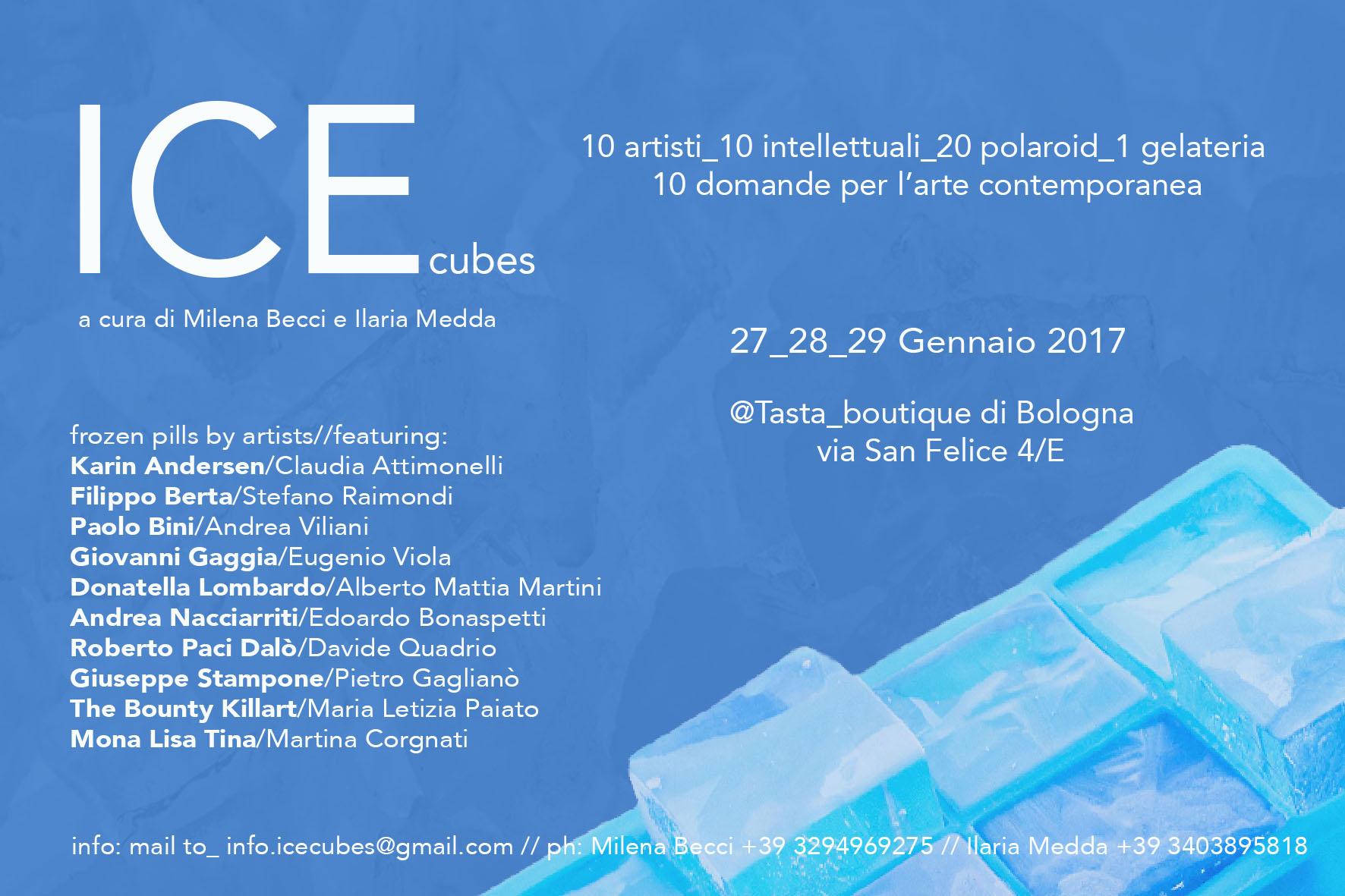 ICEcubes 10 artisti_10 intellettuali_20 polaroid_1 gelateria_10 domande per l'arte contemporanea