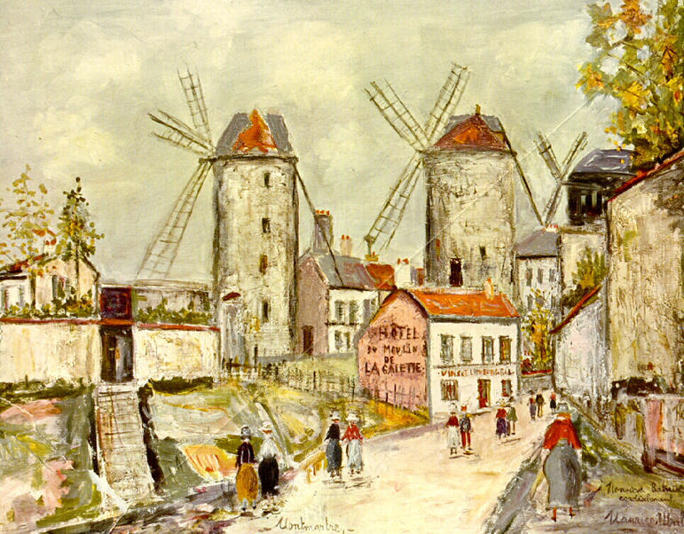 Utrillo, Mulini a vento di Montmartre
