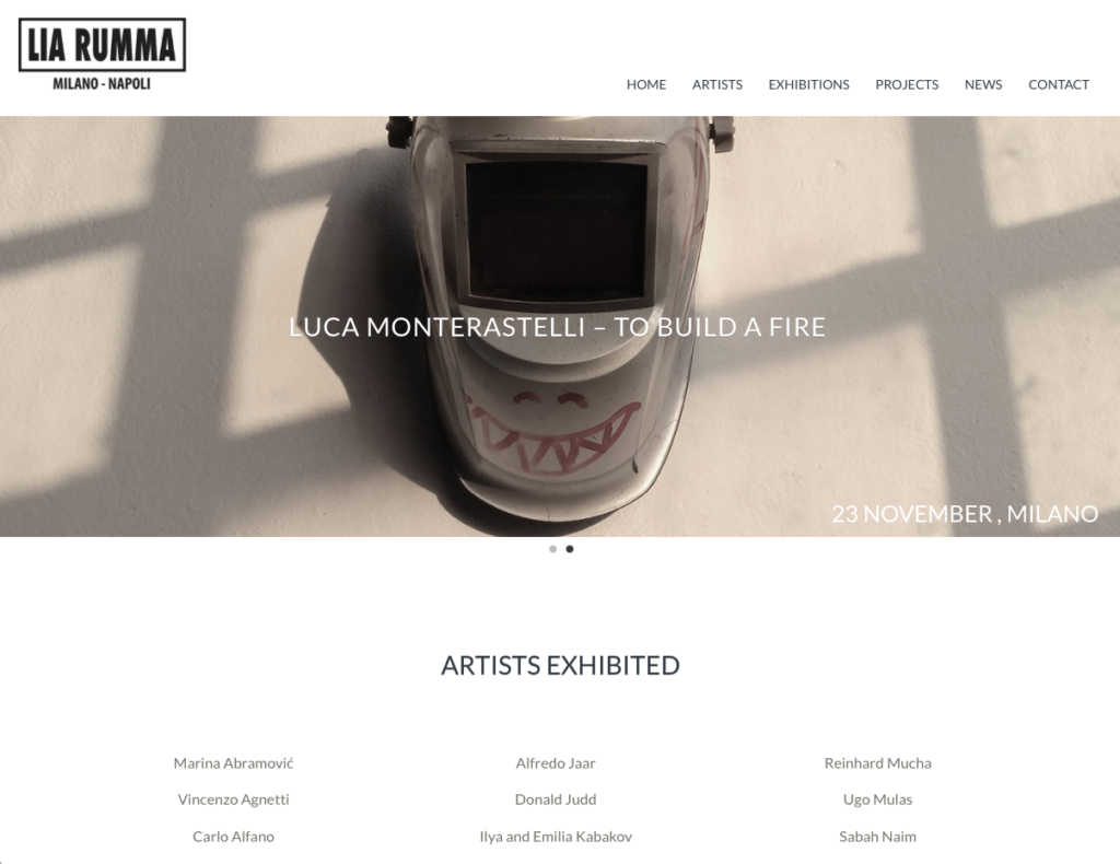 Lia Rumma website