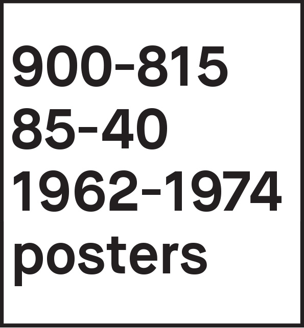 1962-1974 posters