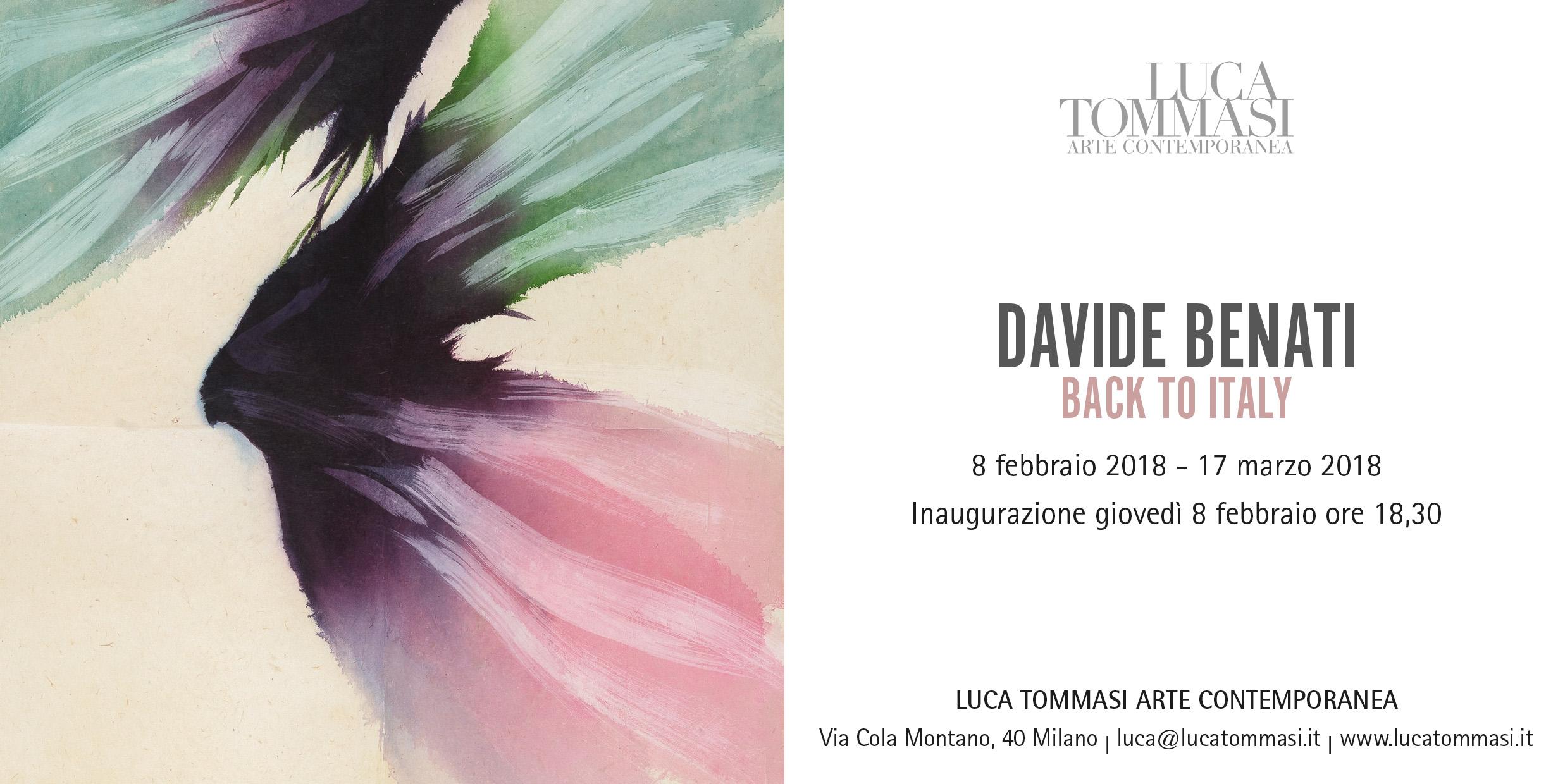 Davide Benati – Back to Italy