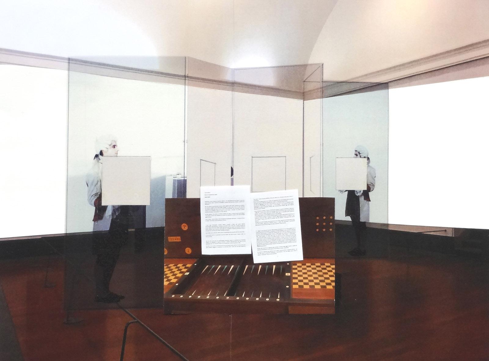 """Scelto da Giulio Paolini, Giulio Paolini, Studio per l'esposizione """"Carta bianca"""", 2017 Collage su stampa fotografica 41 x 55 cm"""