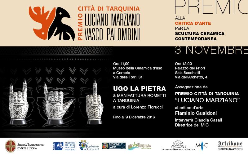 Premio Luciano Marziano e Ugo La Pietra & manifattura Rometti a Tarquinia