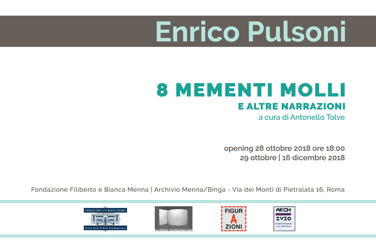 Enrico Pulsoni – 8 mementi molli, e altre narrazioni