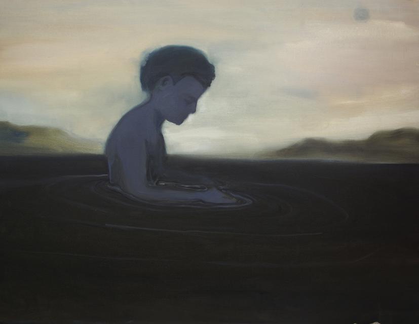 Rudy Cremonini, Where is my sun, 2018, olio su juta, 200 x 260 cm, courtesy Rudy Cremonini