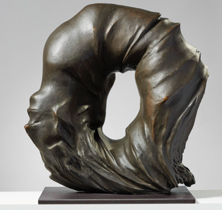 Francesco Somaini Antropoammonite IV 1975 (bronzo patinato grigio - 64 x 62 x 28 cm.)