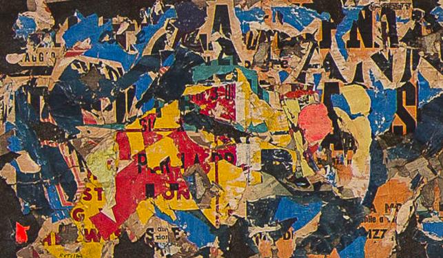 Mimmo Rotella, Collage 12, 1954 Collezione privata, Milano