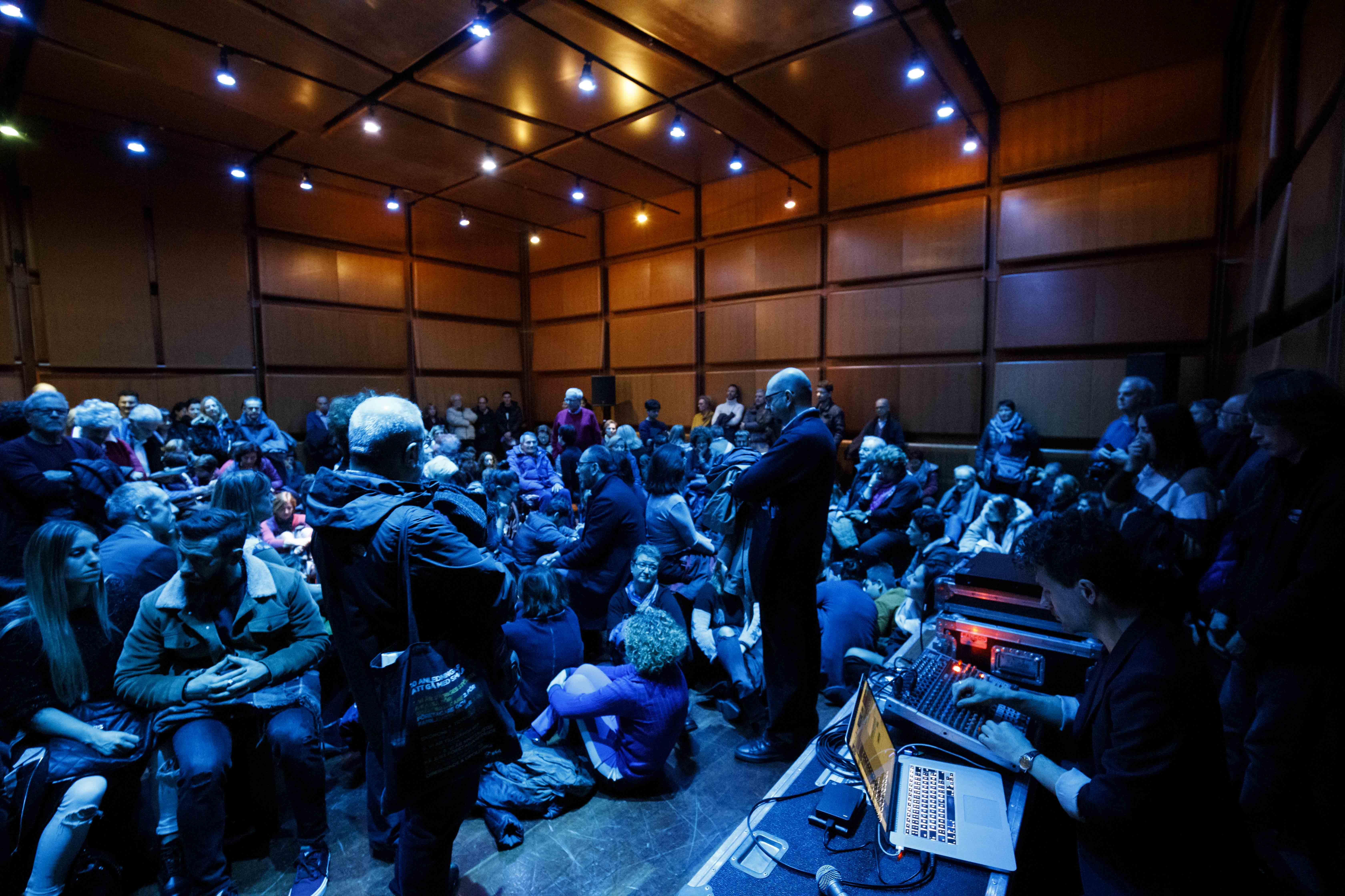 Jacob Kirkegaard, Aurora Borealis Live Concert, Equilibrio Festival 2019. Roma, Auditorium Parco della Musica, 10-02-2019 serata inaugurale ©Fondazione Musica per Roma / foto Musacchio-Ianniello-Pasqualini