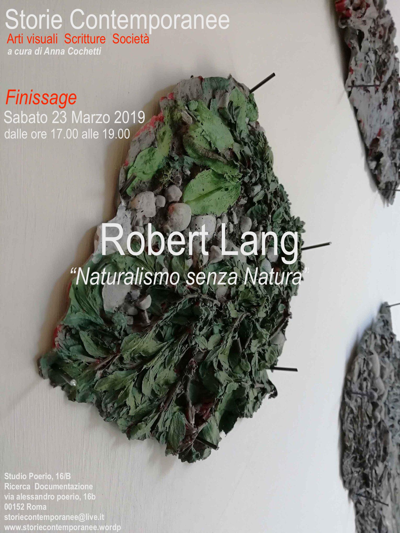 ROBERT LANG: STORIE CONTEMPORANEE – FINISSAGE