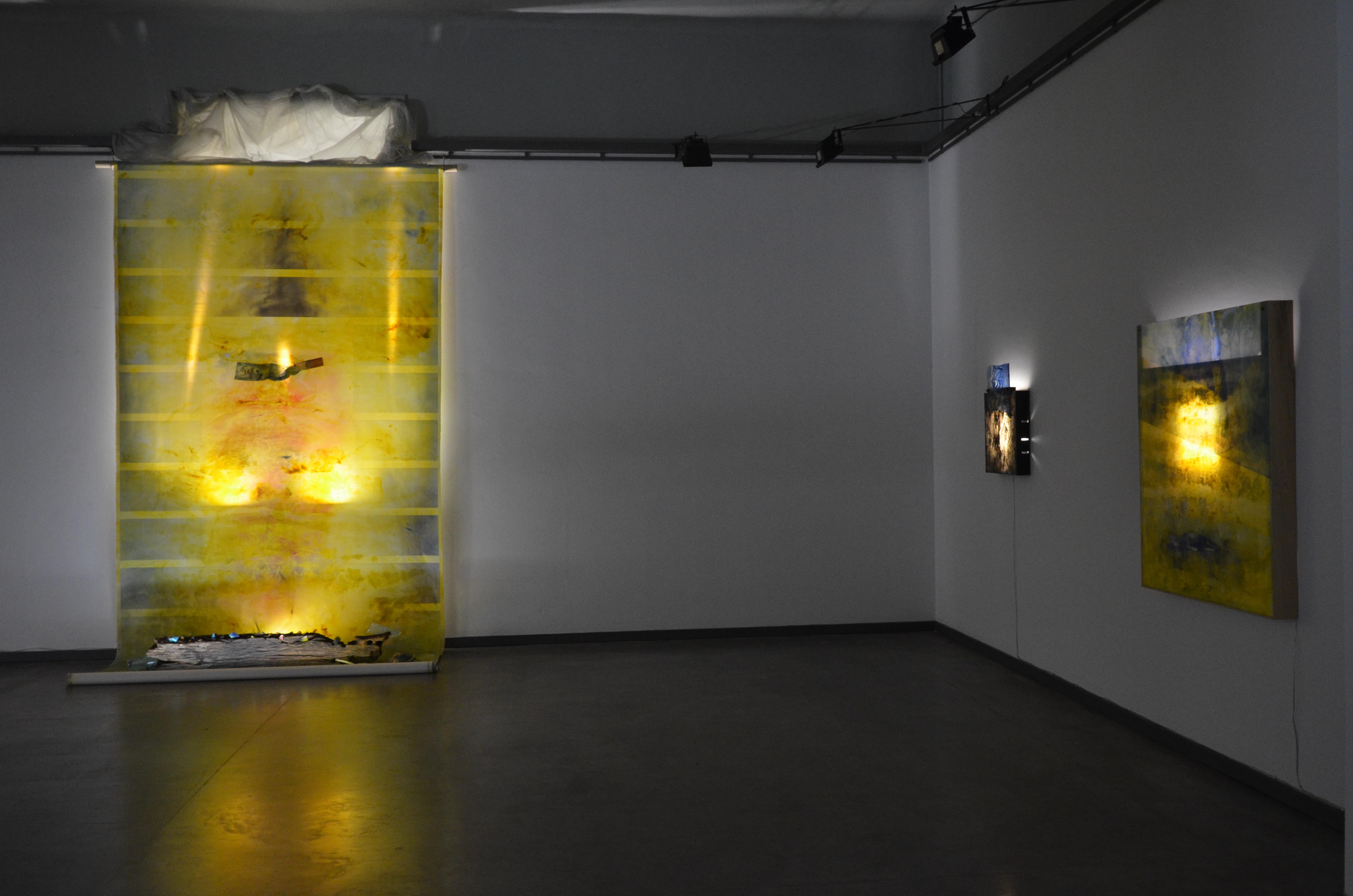 Giuliano Giuman Eremo eretico, Galleria Annunciata, Milano. Installation view 1