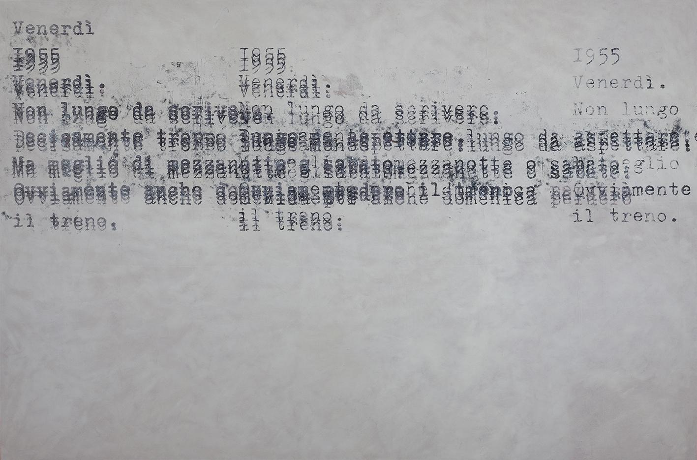 Patrizia Novello, Troppo lungo da aspettare, 2017, olio su tela, cm. 100x150, foto Francesca Iovene