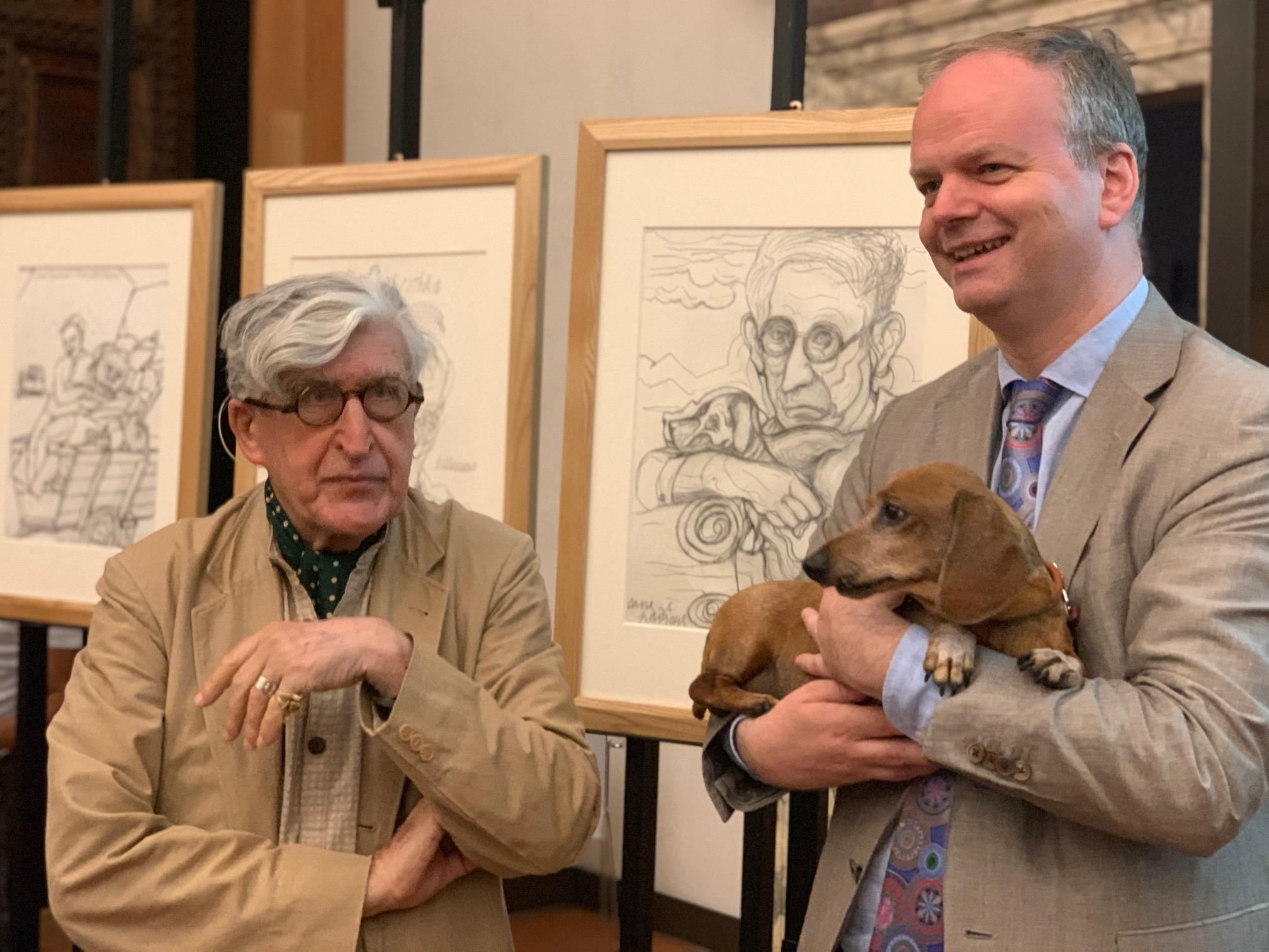 Valerio Adami dona quattro disegni agli Uffizi