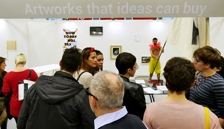Artworks that ideas can buy | Oplà–PerformingActivities. Courtesy Arte Fiera