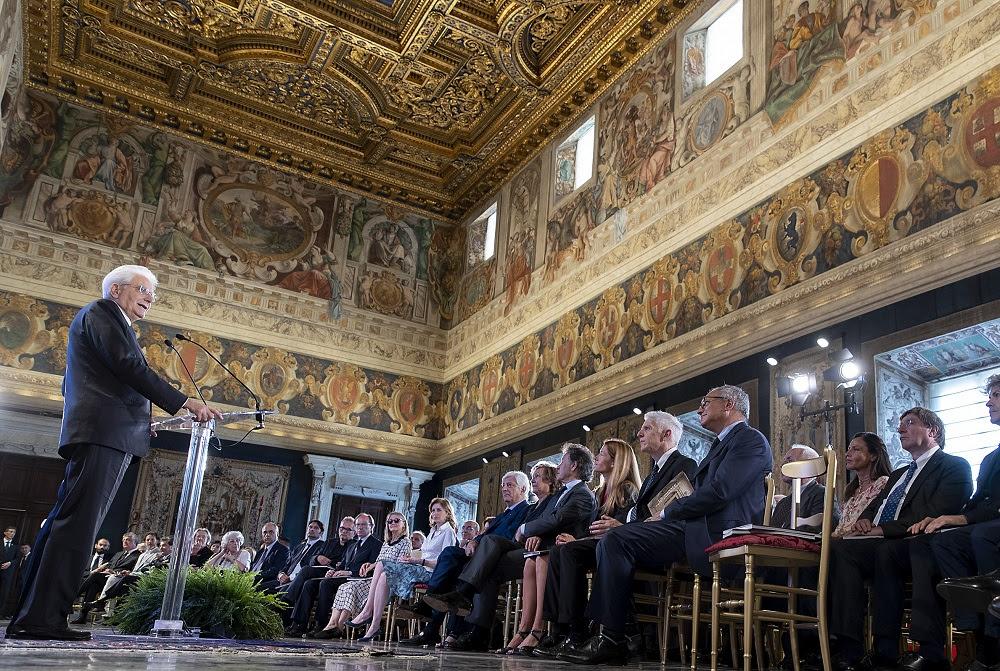 Presentazione del catalogo Quirinale contemporaneo. Il Presidente della Repubblica Sergio Mattarella