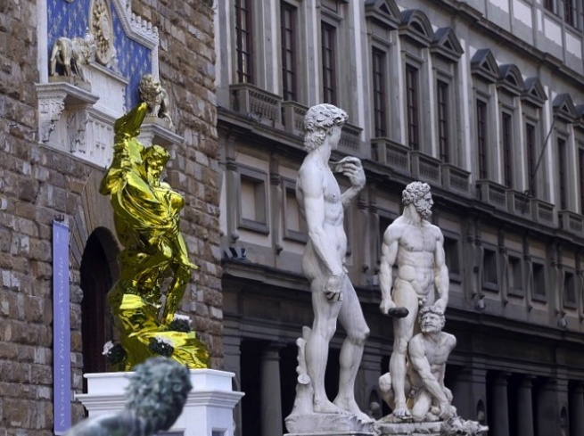 Jeff Koons, Pluto and Proserpina (dalla serie Antiquity), 2010-13, JEFF KOONS IN FLORENCE, Firenze 2015/2016