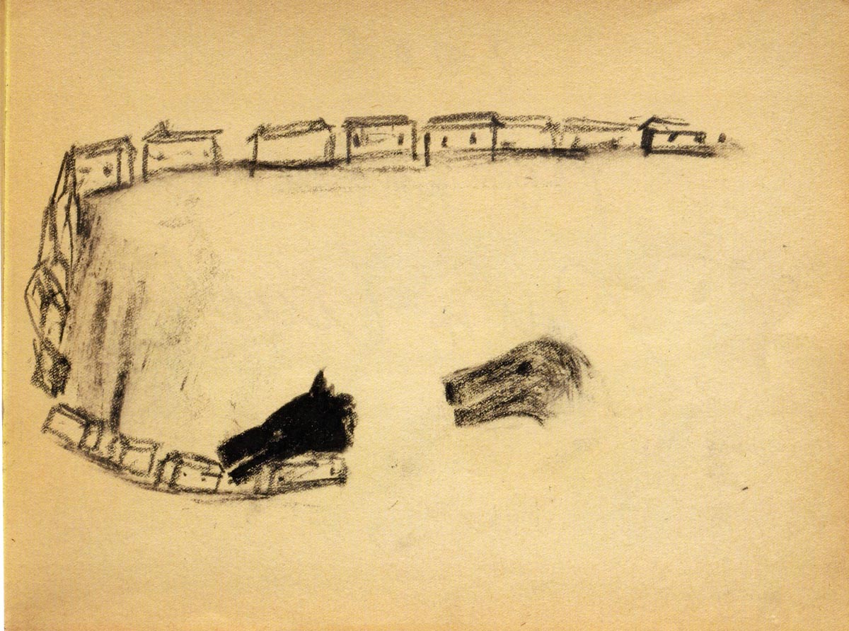 Enzo Cucchi, N.11, 1994 matita e carboncino su carta, cm 23x30,5 Courtesy Galleria Poggiali