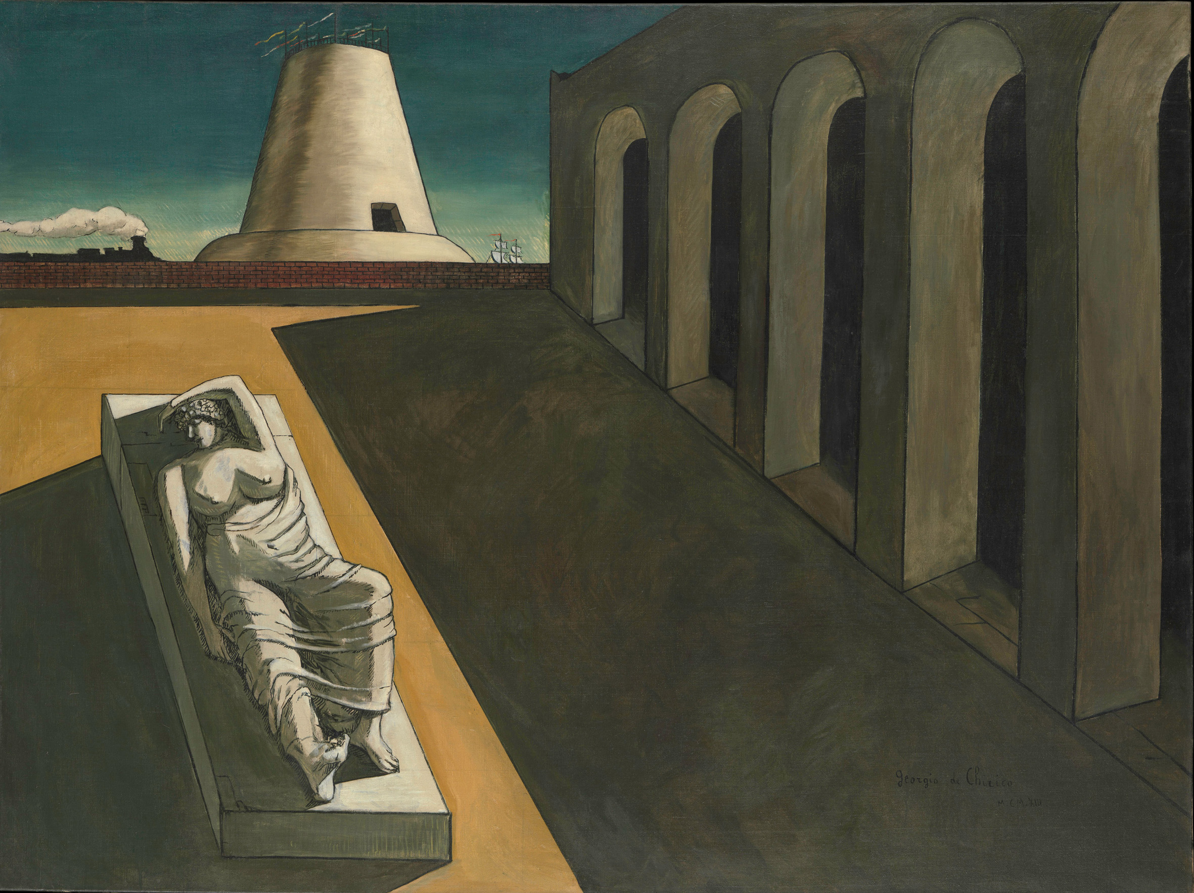 De Chirico, Giorgio (1888-1978): Ariadne, 1913 New York Metropolitan Museum of Art *** Permission for usage must be provided in writing from Scala.