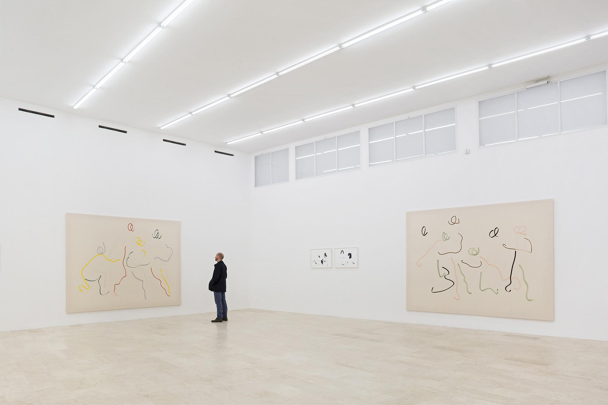 Riccardo Baruzzi-Del-disegno-disposto-alla-pittura-installation-view-2016-P420-Bologna-GLS8038