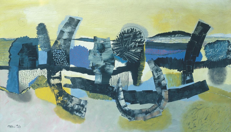 OVERSIZE - Mattia Moreni, Le dolci colline di Brisighella, 1953, olio su tela, cm 150x257, CAMeC La Spezia, collezione Premio del Golfo