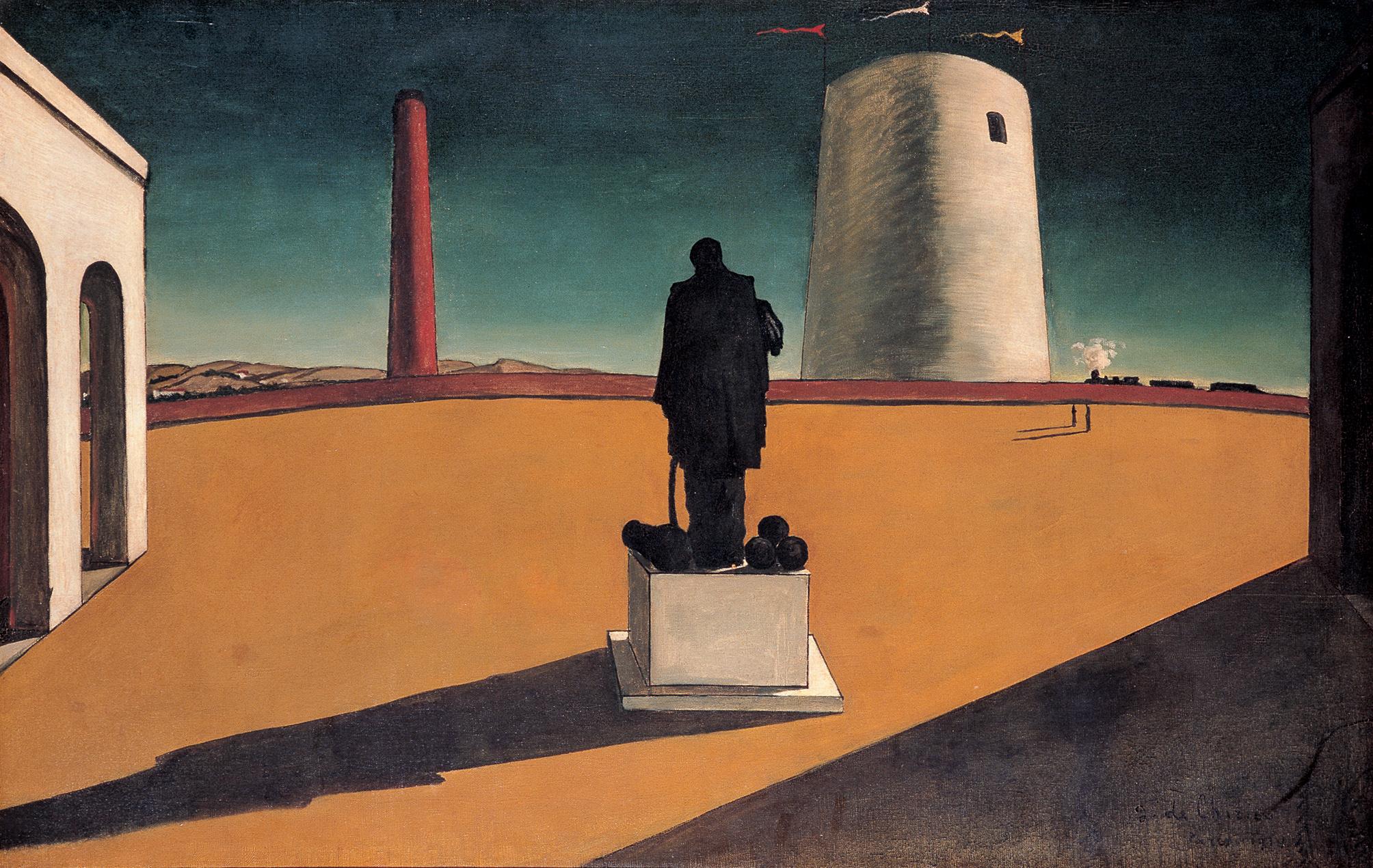 Giorgio de Chirico,L'enigma di una giornata, 1914, Olio su tela, Museu de Arte Contemporânea da Universidade de São Paulo, Brazil