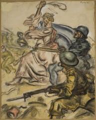 21_-Mario Sironi-In Palestina il nostro di Dio-Il Montello-15 Ottobre 1918-1918-cm 54x67-