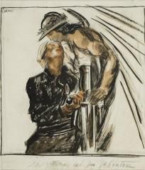 22_-Mario Sironi-La Vittoria col suo salvatore-1924-cm 34,4x32-