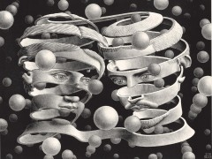 Escher. Bond of Union 1956 Lithographm