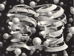 Escher. Bond of Union 1956 Lithographm