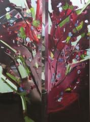 Fabio La Fauci, Natura morta divisa 1, 2014, olio su tela, cm 190x140