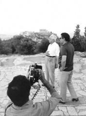 Franco Simongini con Giorgio De Chirico ad Atene, 1974