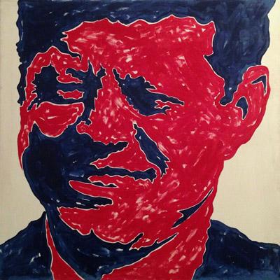 John F. Kennedy smalti su tela 120 x 120 cm 1963-64