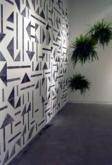 Laercio Redondo Restauro (Restoration), 2012 Charcoal stencil, water and ferns dimensions variable