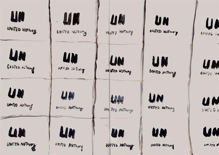 R_vedovamazzei, UN United Nothing, 2015 (studio per dipinto su mattonelle di ceramica)