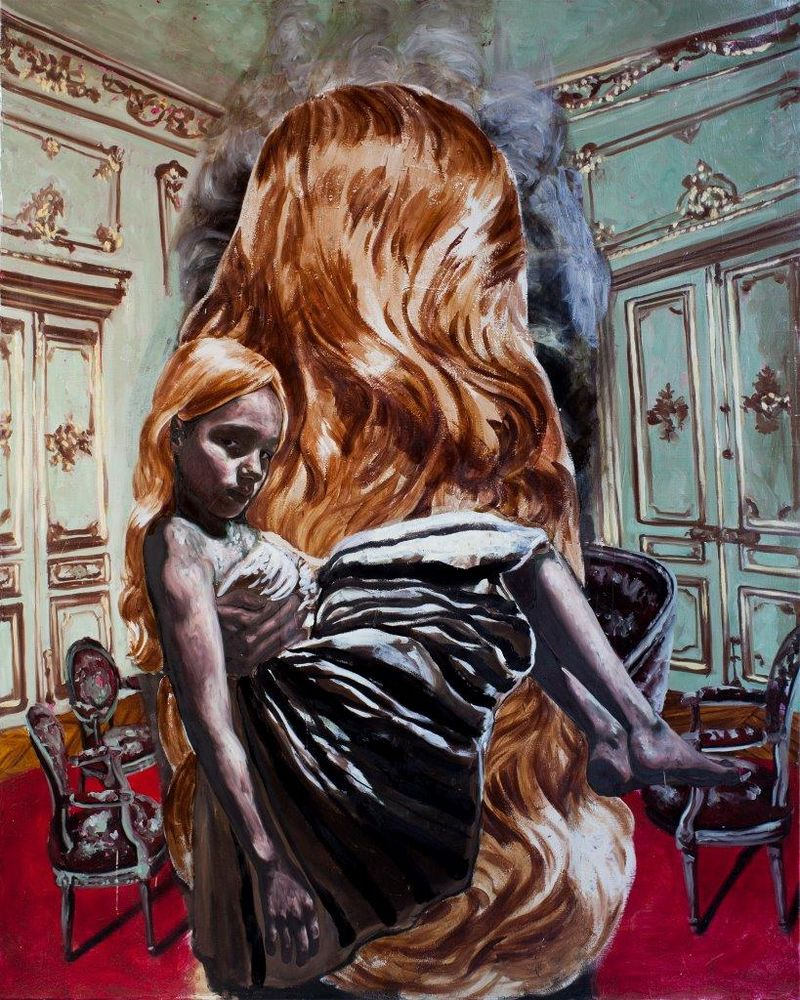 abandoned_house_interior_with_large_wig_250x200cms_2011_13