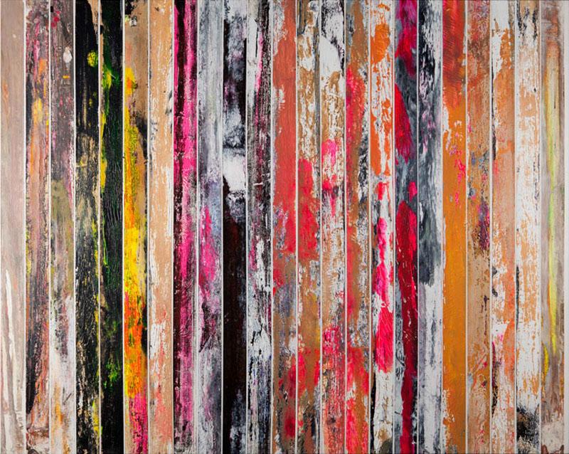 sa0002.2013 acrilico su carta gommata su tela 80x100 cm